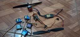 Combo eletrônica aeromodelo asa zagi shock flyer