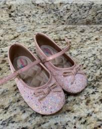 Sapatilha Molekinha Bebê com Glitter Rosa - tam. 24