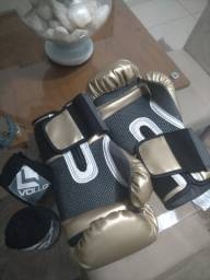 Luva Nova de boxe Everlast + Bandagem Vollo + Bolsa Original