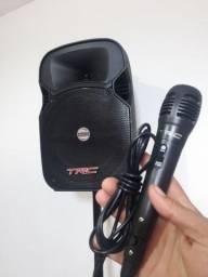 Caixa TRC Amplificada Ativa Bluetooth  Com Pedestal Tripé  Show