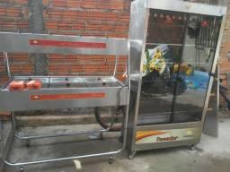 Vende-se uma estufa, um assador de frango
