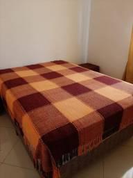 Colcha para cama de casal xadrez tom sobre tom