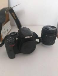 Câmera Nikon D3400 + Lente 18-55mm