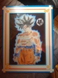 Quadro do Goku Art Instinto Superior