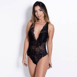 Body Lingerie Renda Preto