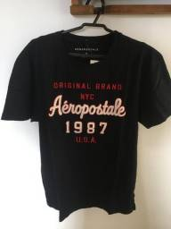 Camisa T-shirt - Aeropostale- Original - Tam M - Preta
