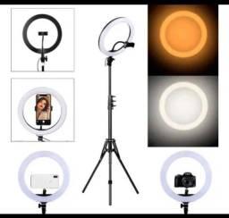 Ring Light 26 cm com tripé 2metros 100,00