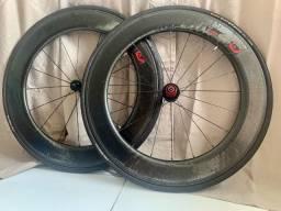 Rodas Zipp 808 Firecrest Tubular (com pneus continental Gatorskin)