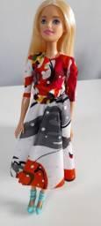 Roupa para Barbie vestido godê
