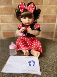 Linda boneca bebê Reborn toda em Silicone realista Nova Original (aceito cartão )