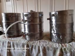 3 Barris/Panelas Inox p Fabricar Cerveja Artezanal