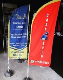 )Wind banner R$160 - 2 metros