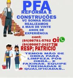 PFA REFORMA E CONSTRUÇÕES