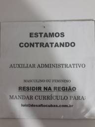 Procura - se Auxiliar Administrativo