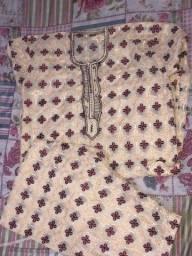 Conjunto em tecido africano masculino