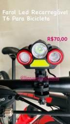 Farol de Bicicleta Recarregável T6 Ecooda Ec - 6098