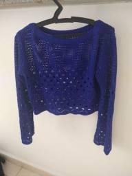 Cropped em tricot