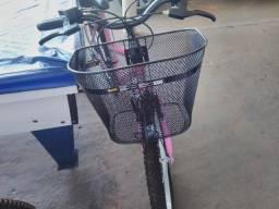 Bike semi-novo rosa