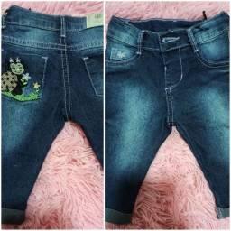 Calça jeans bebê - Tam P