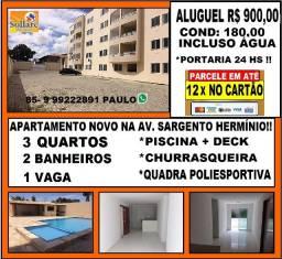 Alugo Apartamento 03 Quartos e Lazer Com Piscina no Antônio Bezerra !