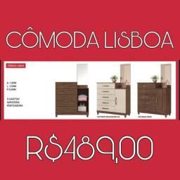 Cômoda c/5 gavetas + sapateira Lisboa PROMOÇÃO