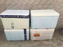 4 caixas de Isopor 50 litros