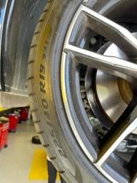 Pneu Pirelli PZERO PZ4 225/40R19 RUN FLAT Pequena Bolha lateral BMW 320 M Sport