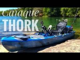 Caiaque Pesca Novo Thork Milha Naútica Com Leme E Pedal Evo Drive