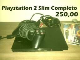 playstation 2 completo em ótimo estado 2 controles e mais de 7 mil jogos