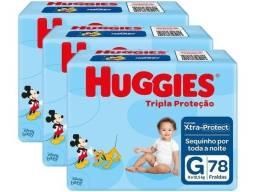 Kit Fraldas Huggies Tripla Proteção Tam. G
