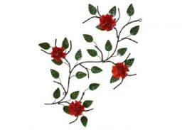 Quadro com quatro flores feito de ferro com pintura eletrostática que não enferruja