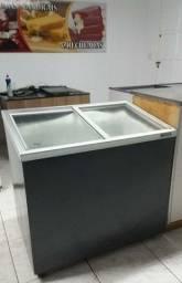 Freezer tampa de vidro 690