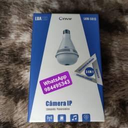 Câmera lâmpada 360 com led rgb c/som bluetooth - Luatek<br>