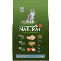Ração Guabi Natural Frango e Arroz Integral Gatos Sênior Castrados 7,5kg