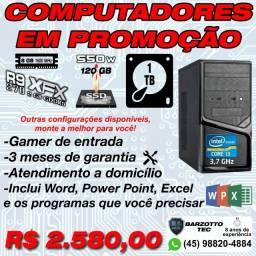 PC Gamer i3 3.7 GHz, R9 270 2G D5, 8GB, SSD 120, HD 1 TB