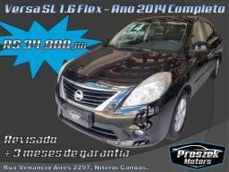 Nissan Versa SL 1.6 - Ano 2014 Completo