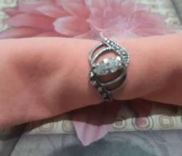 Anel de prata com pedra, tamanho 13