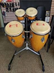 tumbadora + bongo com suporte