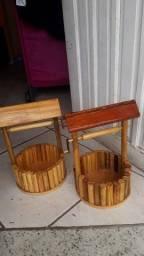 artesanato,posso de madeira feito a mão.
