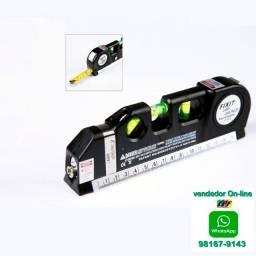Nível a laser a Laser com Trena de mão portátil 3x1