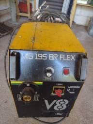 Máquina de solda mig 195 amperesMáquina indicada para funilaria ou serviços leves