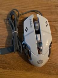 Mouse Gamer Com Fio Usb 6 Botões Mause Mauser Barato Jogo Pc