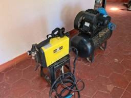 Maquina corte de plasma maxbrasil com compressor profissional