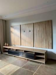 Rack e painel de tv de madeira