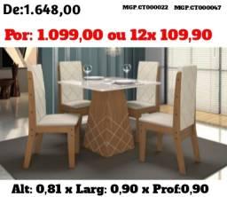 Conjunto Mesa de 04 Cadeira Estofado Lindissima - Promoção Maringa e Região