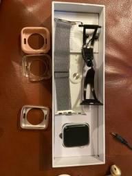Smartwatch Iwo 12 Pro Original (com 3 pulseiras e 3 cases)
