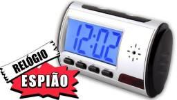 Mini Camera Espia Relógio Despertador Espião Sensor Presença