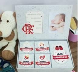 Caixa Porta Lembrança Bebê - Meus Pequenos Tesouros Flamengo Brasfoot