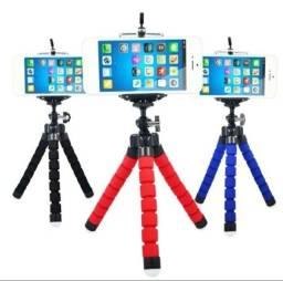 Mini Tripé Flexível e Suporte para celular