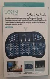 Mini Teclado Sem fio (iluminado com 3 Cores) + Touch